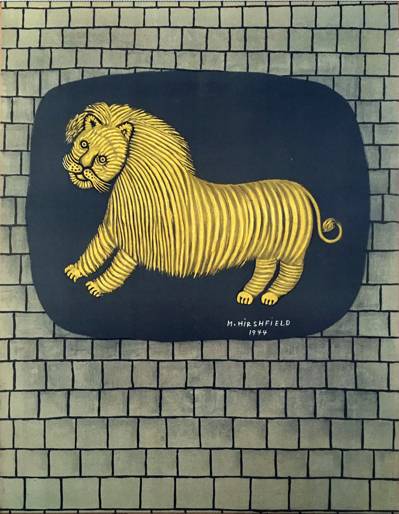 Morris Hirshfield, Lion (1944) - Original and Authentic Vintage Poster