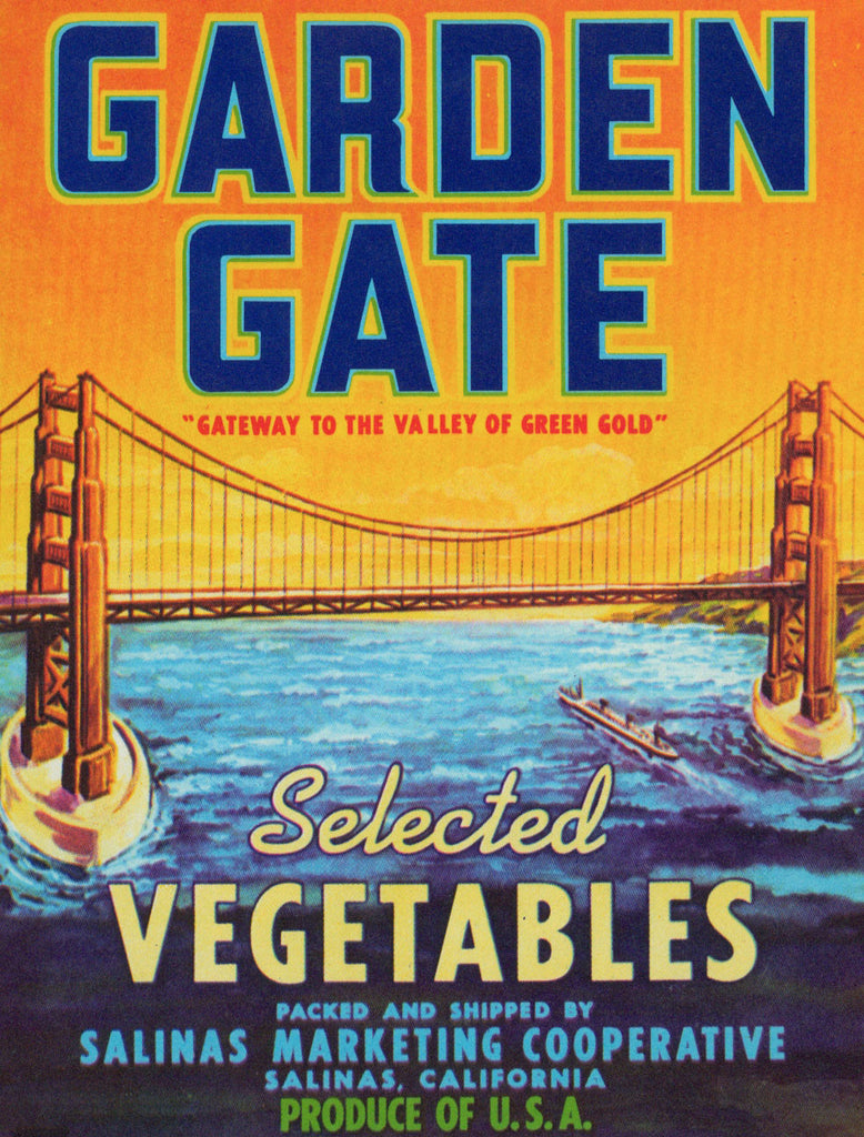 Garden Gate- Crate Label (1970s) - Authentic Vintage Posters