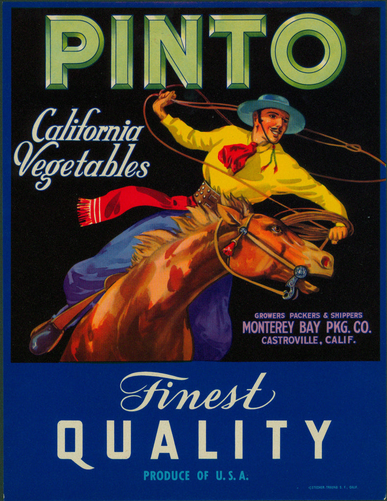 Pinto Vegetables-Crate Label (1940s)