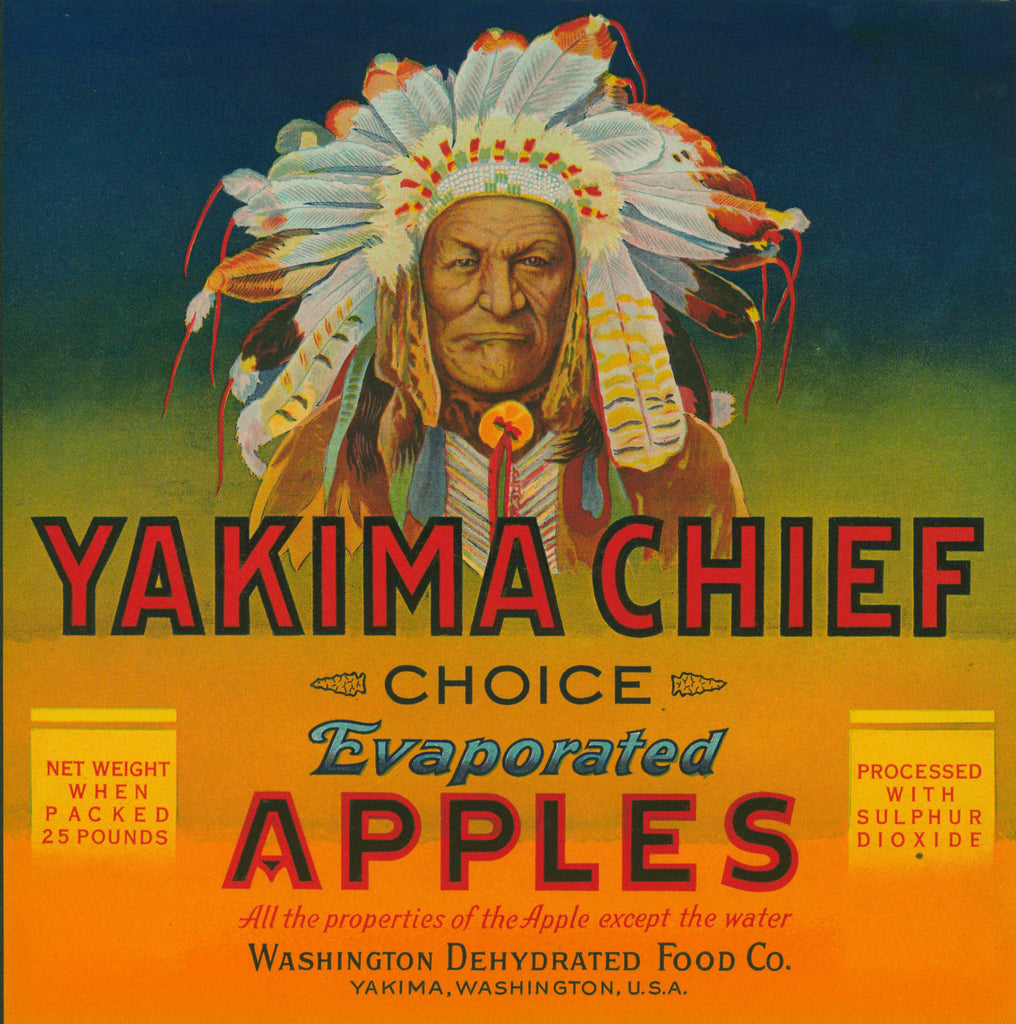 Yakima Chief Evaporated Apples- Crate Label (1930s) - Authentic Vintage Posters