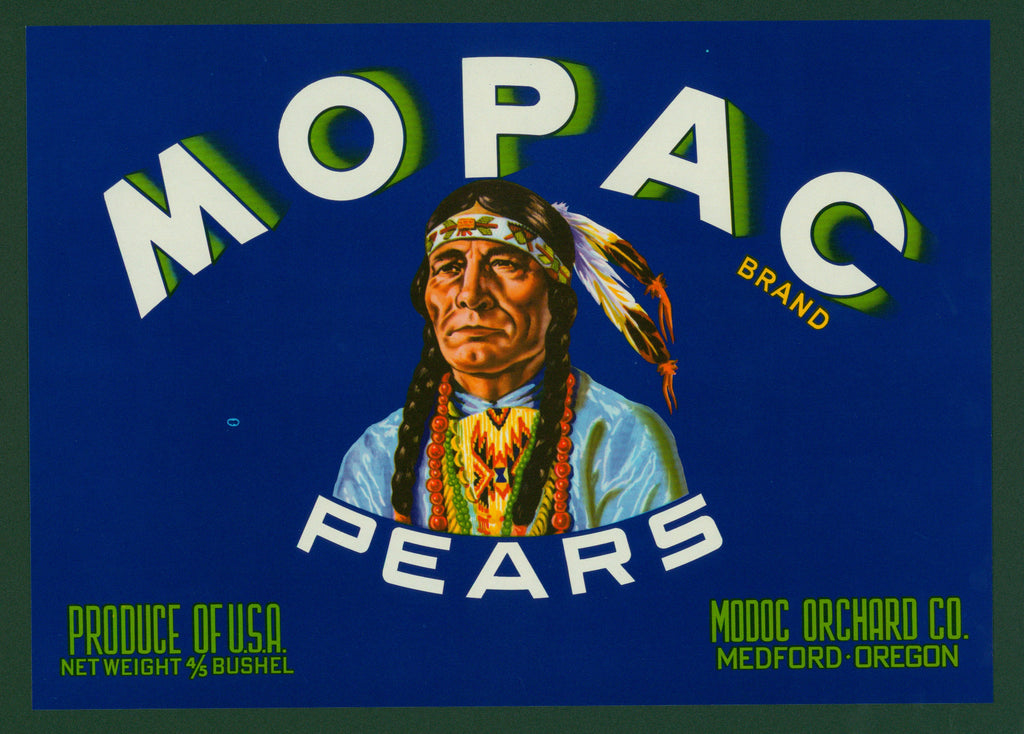 Mopac Pears- Crate Label (1950s)
