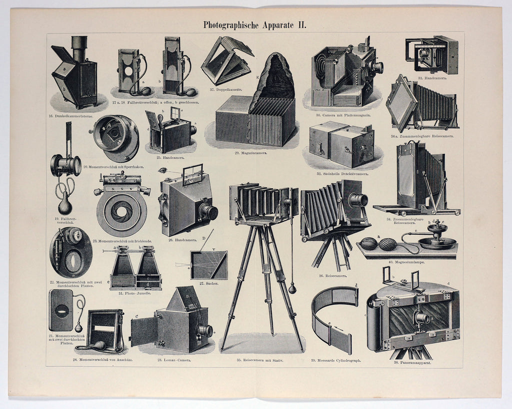 Photo, Cameras & Photography Antique Engraving (1897) - Original and Authentic Vintage Poster