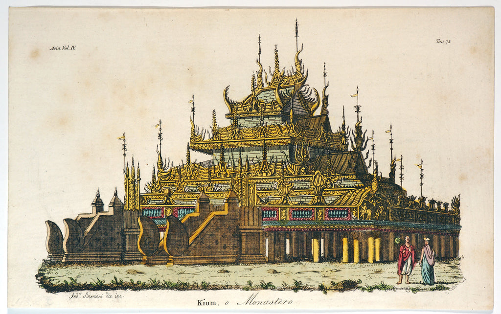 Kium, Buddhist Monastery (1844) - Original and Authentic Vintage Poster