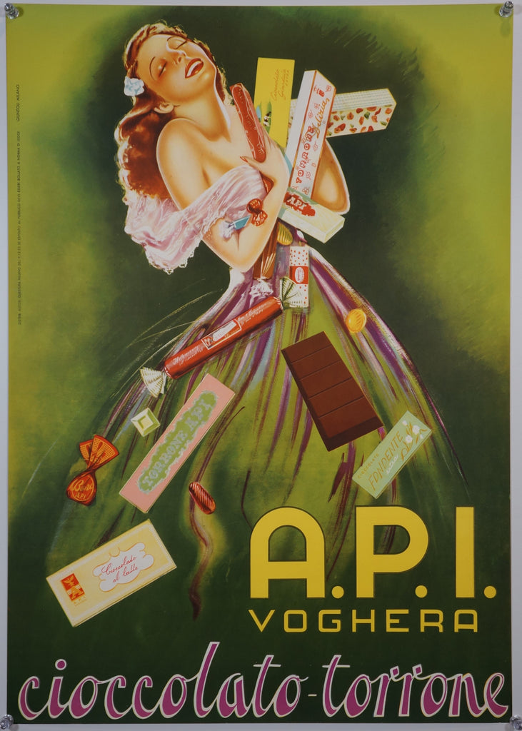 A.P.I. Voghera (1955) - Original and Authentic Vintage Poster