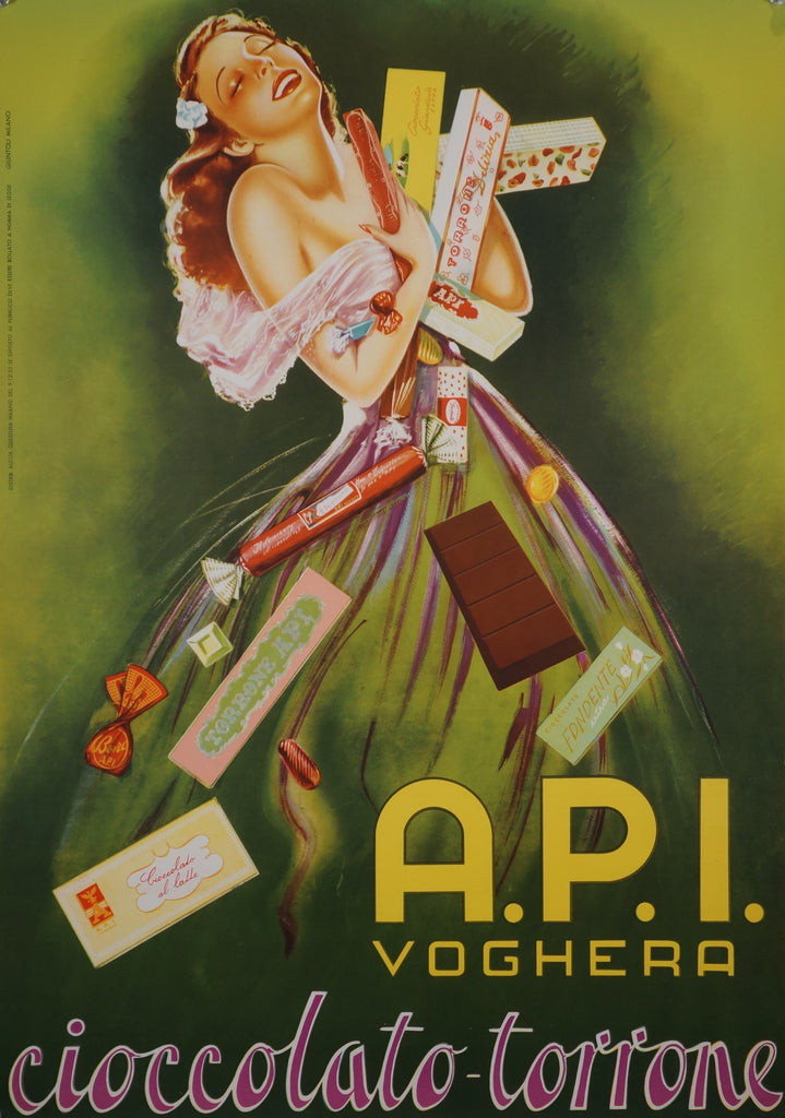 A.P.I. Voghera (1955) - Authentic Vintage Posters