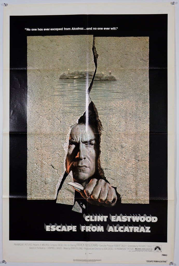 Escape From Alcatraz (1979) - Original and Authentic Vintage Poster