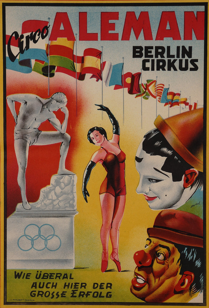 Aleman Berlin Cirkus (1950s) - Original and Authentic Vintage Poster