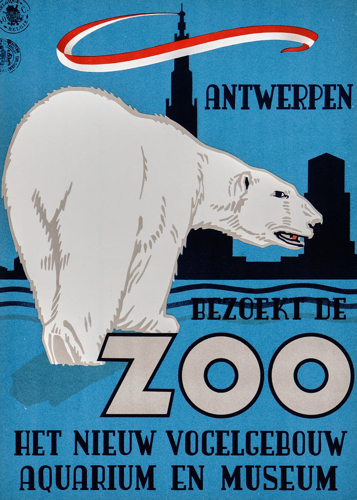 Antwerpen Zoo (1950) - Original and Authentic Vintage Poster