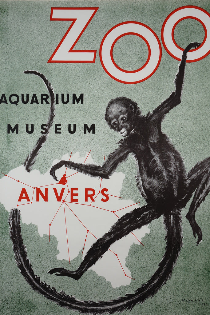 Zoo Anvers (1954) - Original and Authentic Vintage Poster