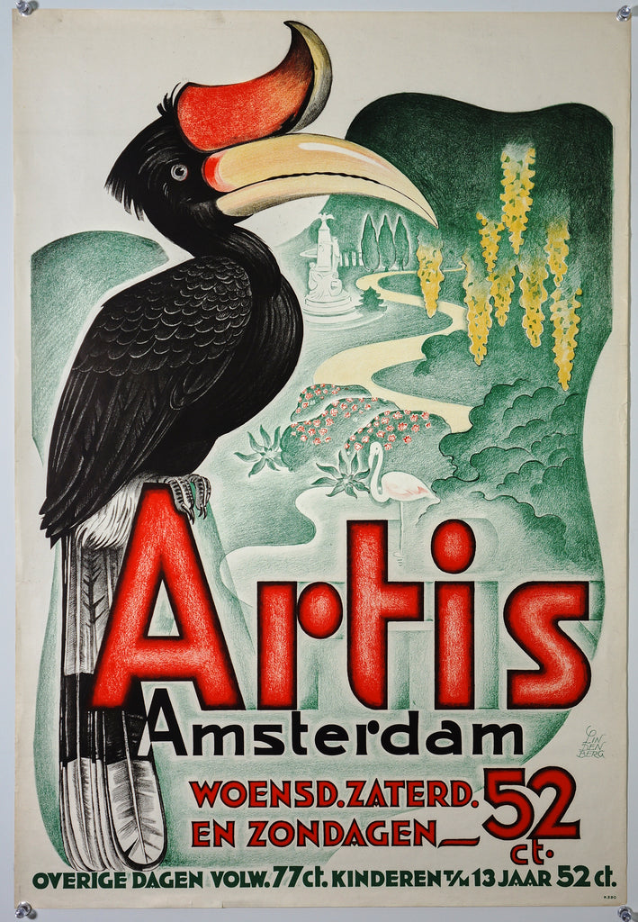 Artis Amsterdam (1942) - Original and Authentic Vintage Poster