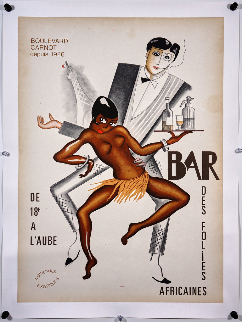 Bar Des Folies Africaines (1950s) - Original and Authentic Vintage Poster