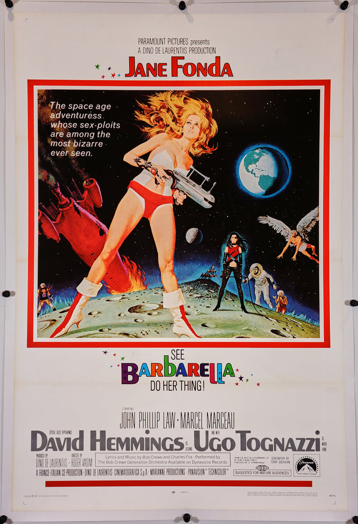 Barbarella (1968) - Original and Authentic Vintage Poster
