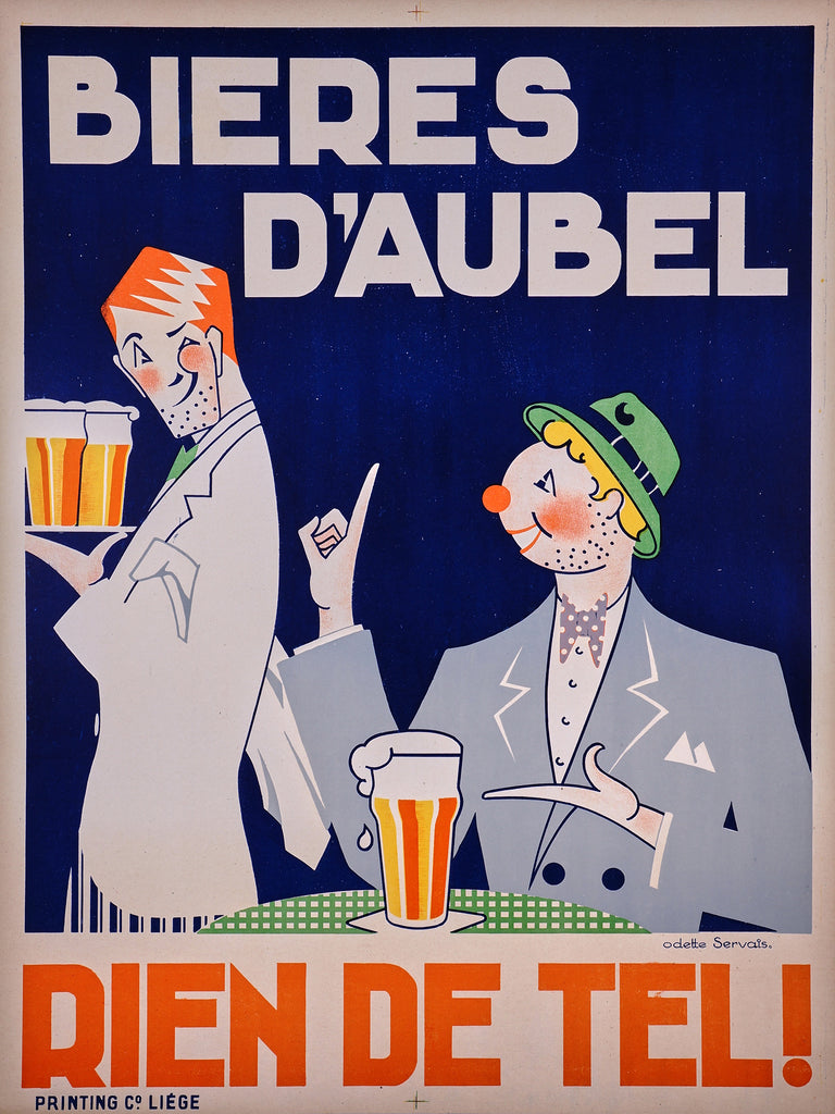 Bieres D'Aubel (1930s) - Original and Authentic Vintage Poster