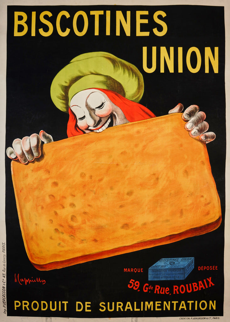 Biscotines Union- Cappiello (1906) - Original and Authentic Vintage Poster