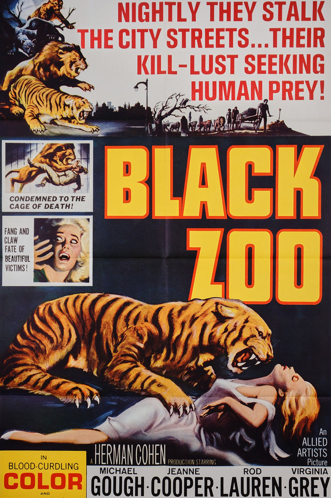 Black Zoo (1963) - Original and Authentic Vintage Poster
