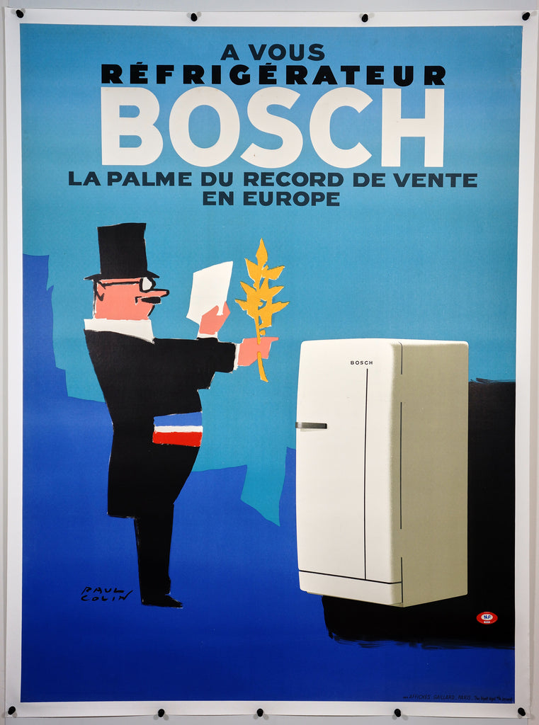 Bosch Refrigerator by Paul Colin (1963) - Original and Authentic Vintage Poster