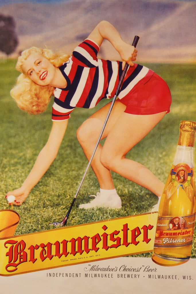 Braumeister Pilsner (1940s) - Original and Authentic Vintage Poster