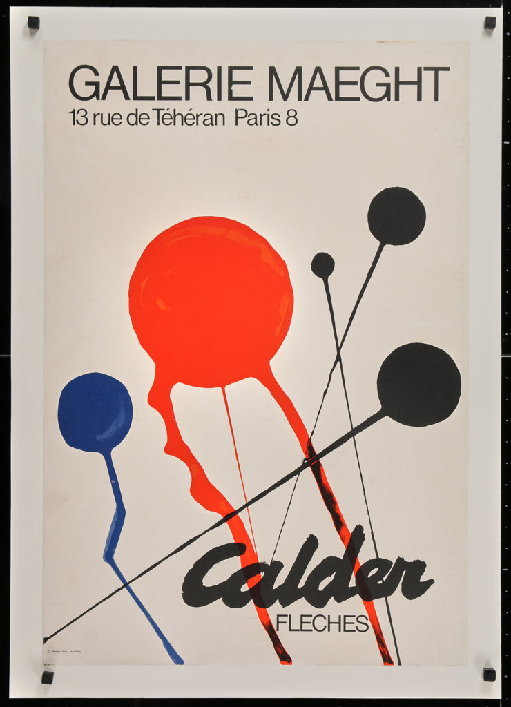 Alexander Calder- Fleches (1968) - Original and Authentic Vintage Poster