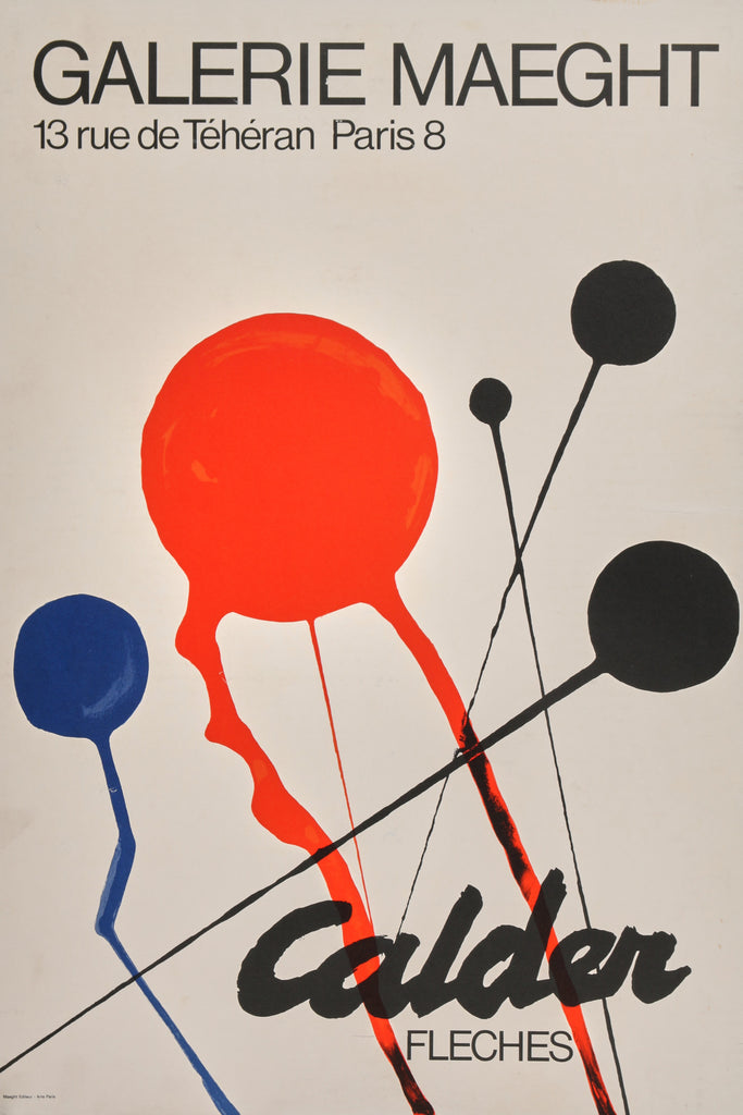 Alexander Calder- Fleches (1968) - Authentic Vintage Posters
