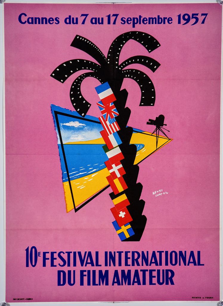Festival International du Film Amateur- 10th (1957) - Authentic Vintage Posters