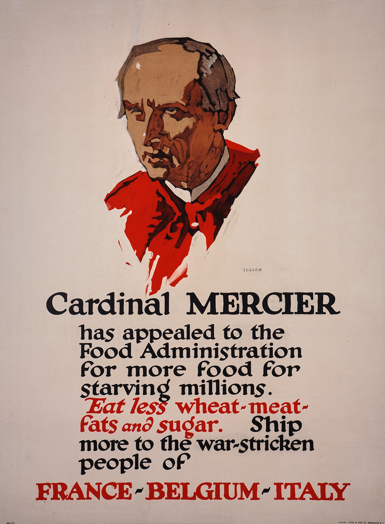 Cardinal Mercier (1917) - Original and Authentic Vintage Poster