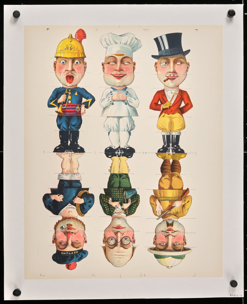 French Cutout Men (1910s) - Original and Authentic Vintage Poster