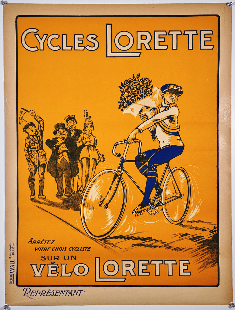 Cycles Lorette (1930s) - Original and Authentic Vintage Poster