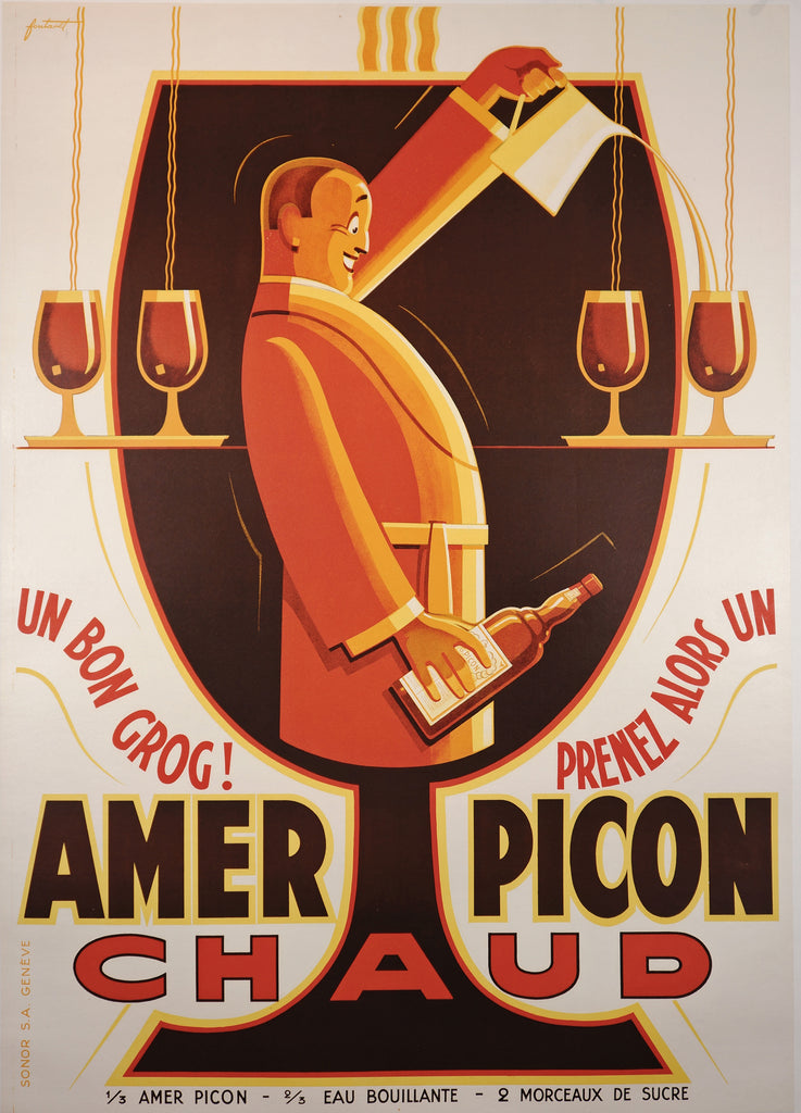 Amer Picon Chaud (1930) - Original and Authentic Vintage Poster