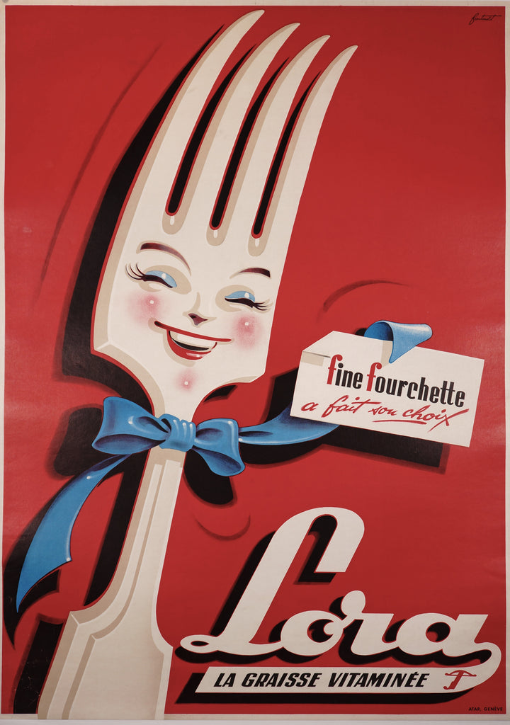 Lora Fourchette (1954) - Original and Authentic Vintage Poster