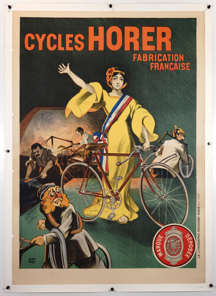 Cycles Horer (1917) - Original and Authentic Vintage Poster