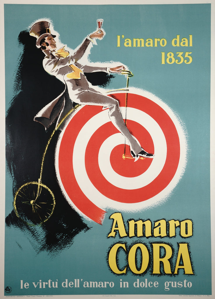 Amaro Cora (1954) - Original and Authentic Vintage Poster