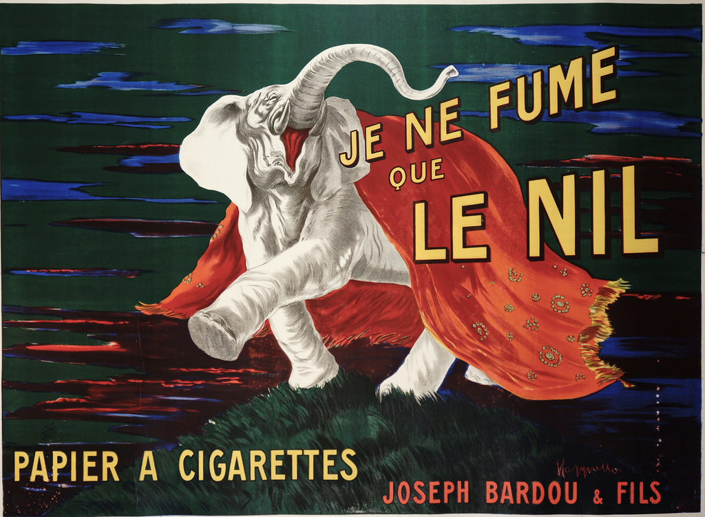 Cappiello- Je Ne Fume Que le Nil (1912) - Original and Authentic Vintage Poster