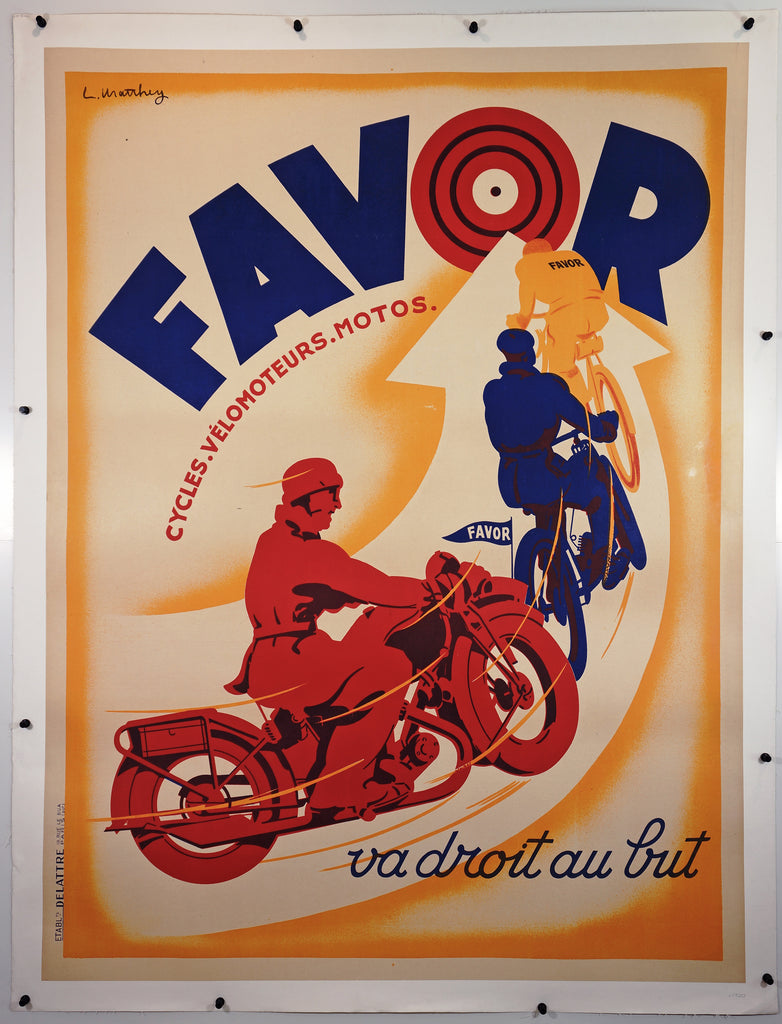 Favor Bullseye (1930s) - Original and Authentic Vintage Poster