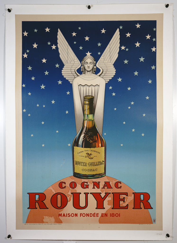 Cognac Rouyer (1945) - Original and Authentic Vintage Poster