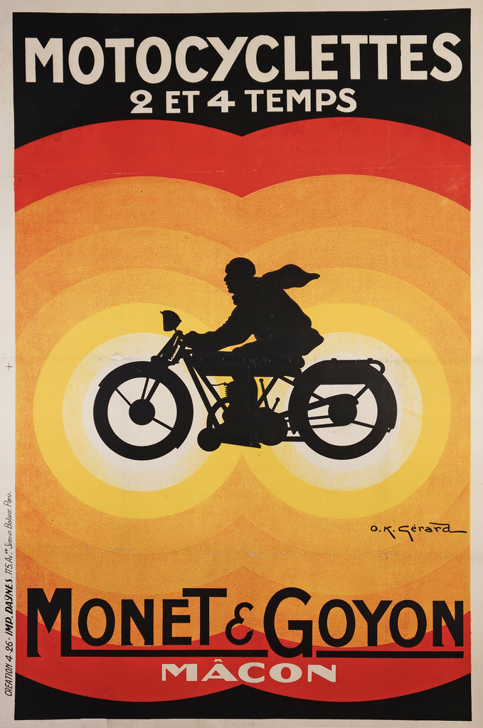Motocyclette Monet & Goyon (1926) - Original and Authentic Vintage Poster