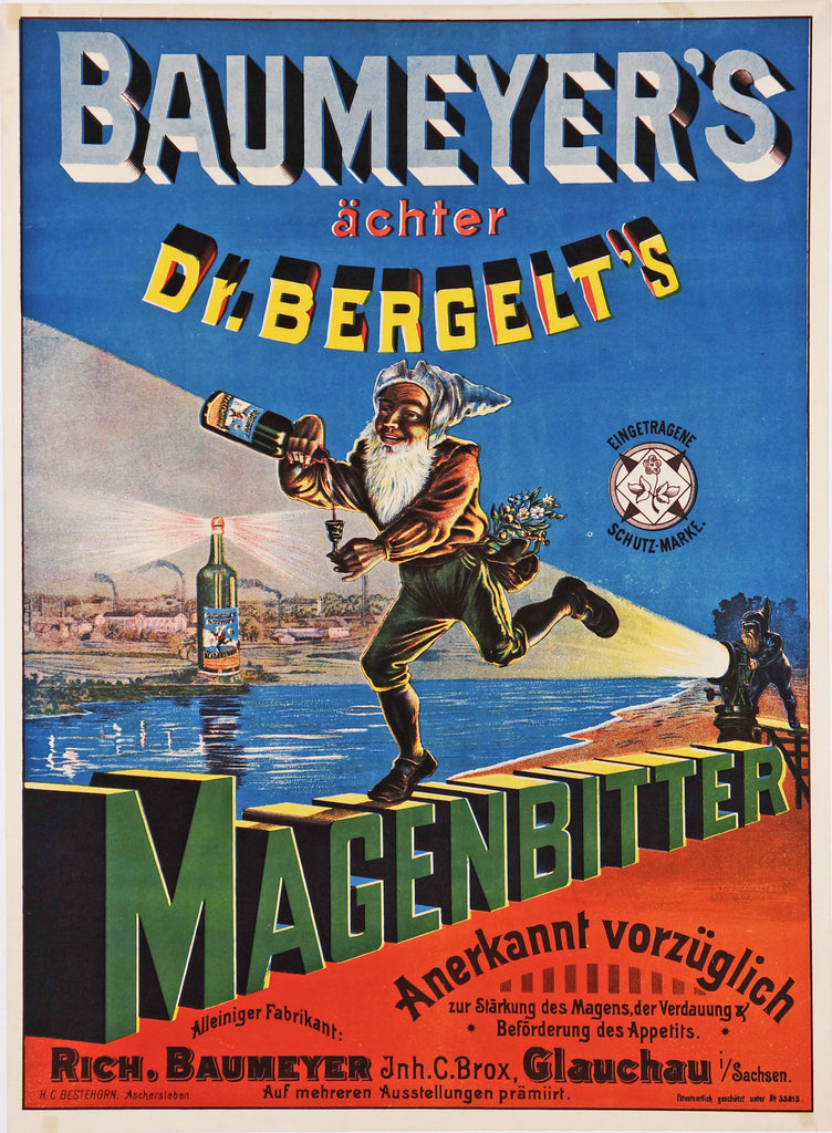Baumeyer's Maganbitter (1920s) - Authentic Vintage Posters