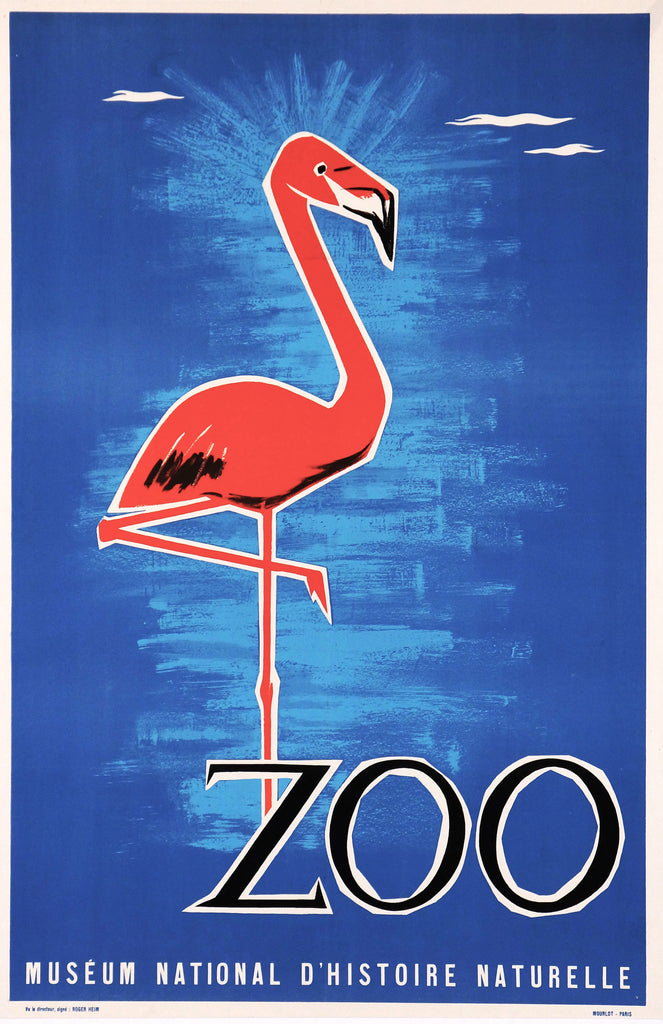 Zoo Museum National D'Histoire Naturelle (1965) - Original and Authentic Vintage Poster