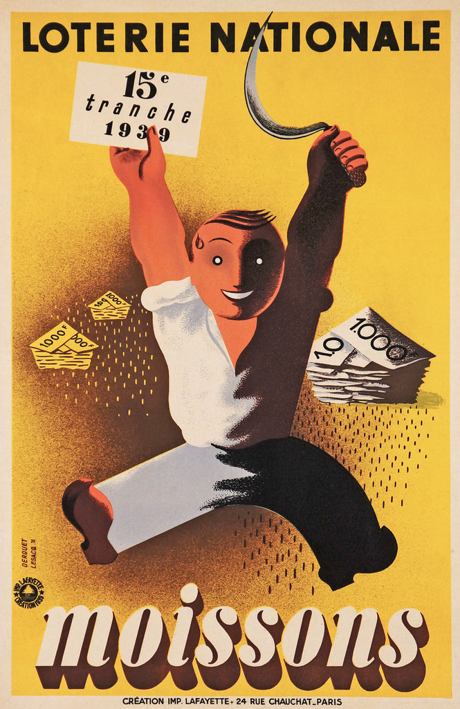 Loterie Nationale - Moissons (1939) - Authentic Vintage Posters