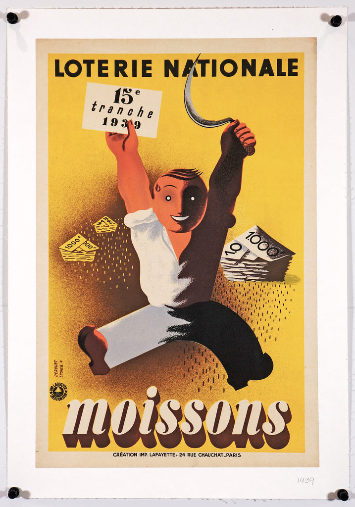 Loterie Nationale - Moissons (1939) - Original and Authentic Vintage Poster