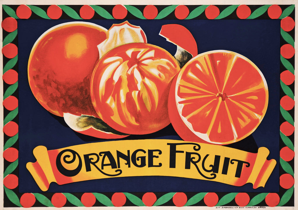 Orange Fruit (1924) - Original and Authentic Vintage Poster