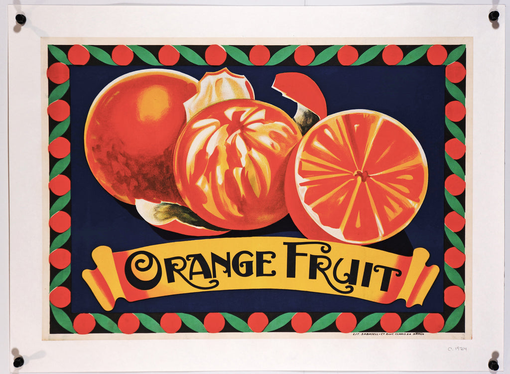 Orange Fruit (1924) - Authentic Vintage Posters