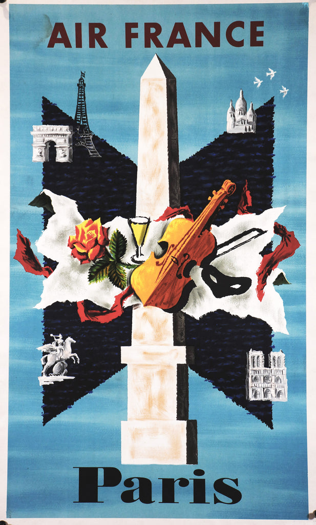 Air France Paris (1956) - Original and Authentic Vintage Poster