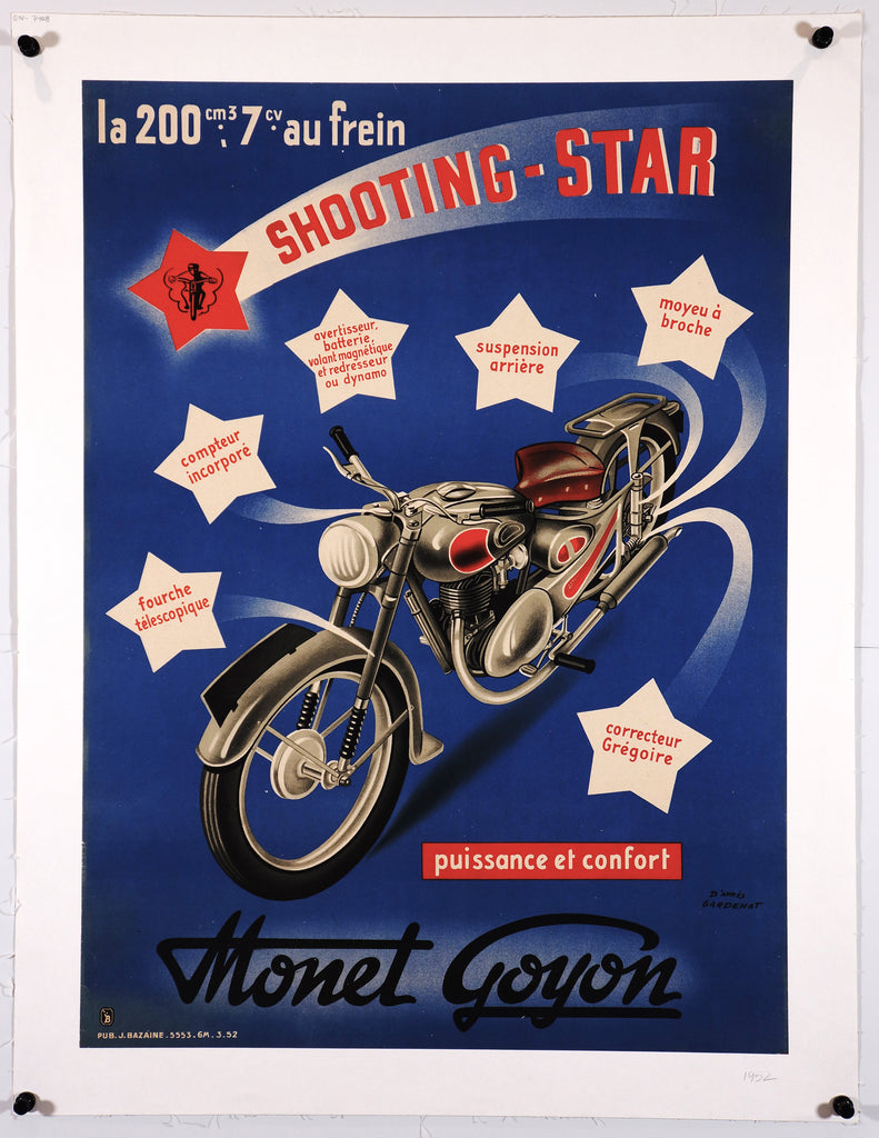 Shooting Star Monet Goyon (1952) - Original and Authentic Vintage Poster