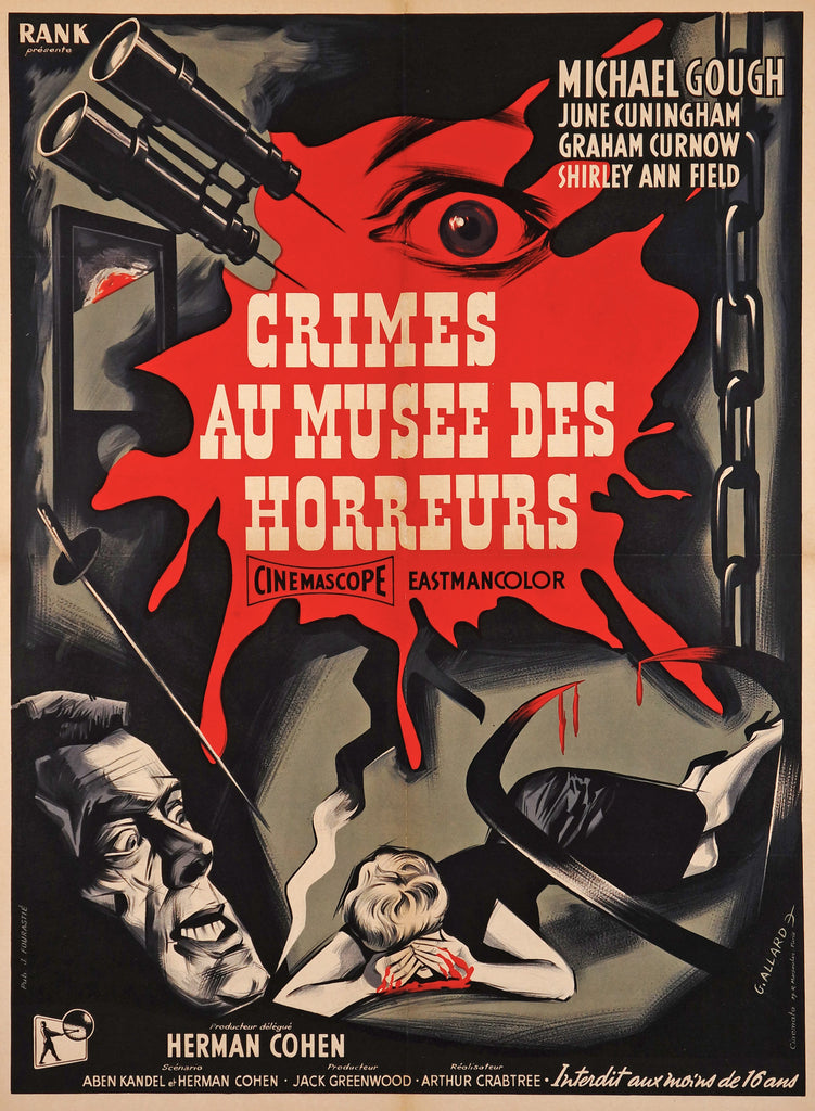 Crimes Au Musee Des Horreurs (1959) - Original and Authentic Vintage Poster
