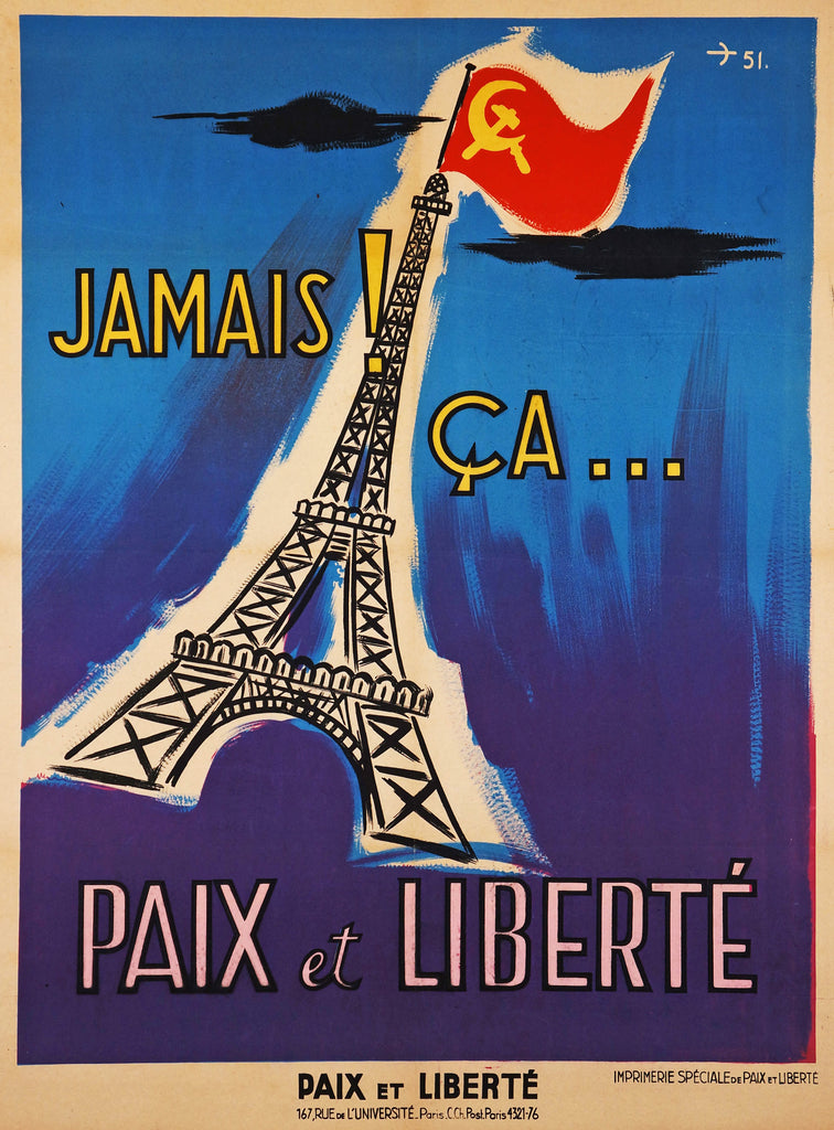 Jamais! Ca... (1951) - Original and Authentic Vintage Poster