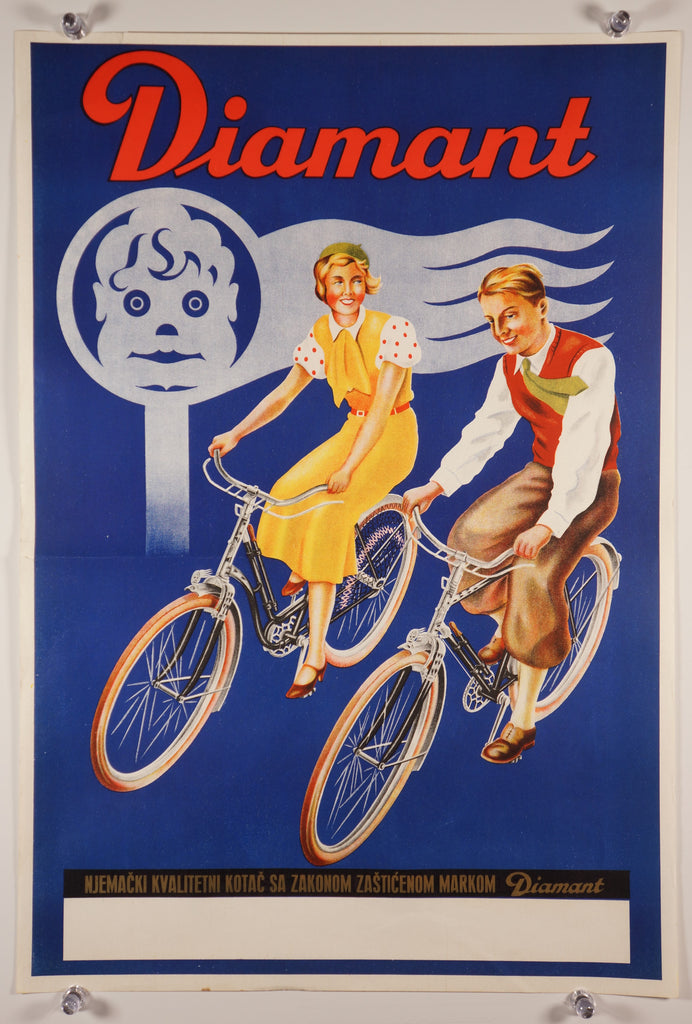 Diamant Bicycle (1930s) - Original and Authentic Vintage Poster