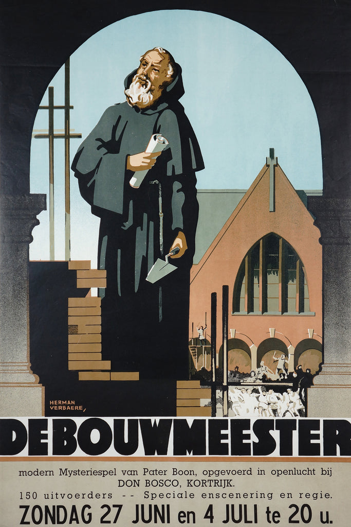 De Bouwmeester (1948) - Original and Authentic Vintage Poster