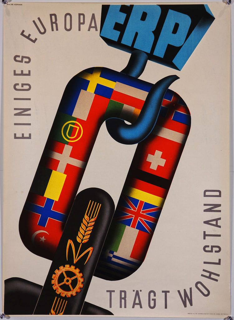 Einiges Europa (1950) - Original and Authentic Vintage Poster