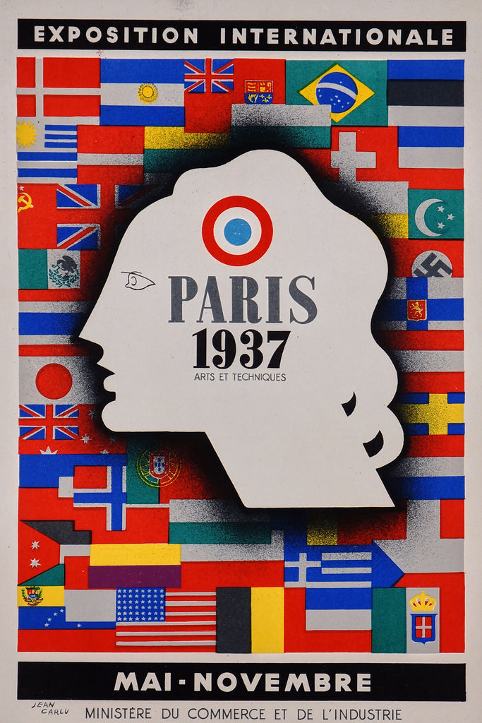 Exposition Internationale Paris (1937) - Original and Authentic Vintage Poster