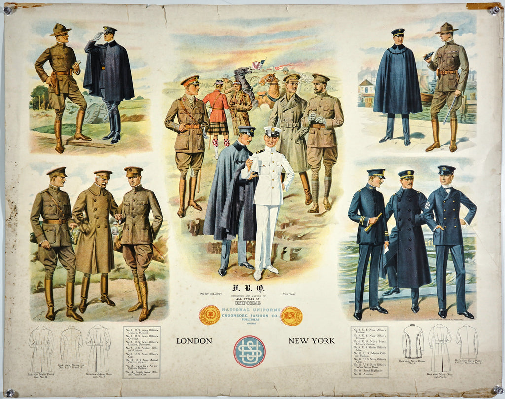 F.B.Q. Clothing Company- Uniforms (1918) - Authentic Vintage Posters